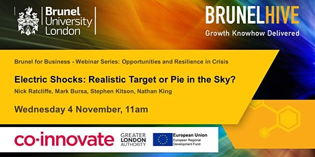 Brunel for Business - Electric Shocks: Realistic Target or Pie in the Sky? tickets