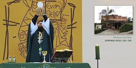 Missa Dom 25/10 - 11h - Paróquia Sant'Ana ingressos