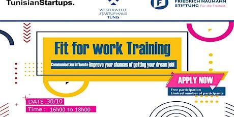 Fit for Work: Savoir communiquer avec impact  tickets