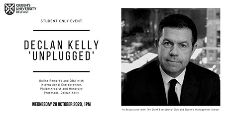 Declan Kelly 'Unplugged' - Careers & Business Guidance for Students tickets