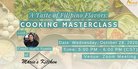 A Taste of Filipino Flavors: Cooking Masterclass with Candy Marie Ramos tickets
