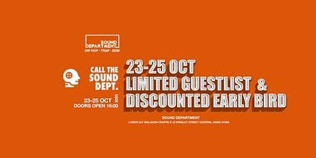LONG WEEKEND FREE DRINKS GUESTLIST @ Sound Department tickets