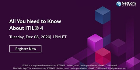 Webinar - All You Need to Know About ITIL® 4 tickets