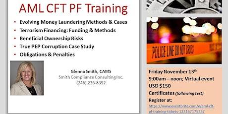 AML CFT PF Training tickets