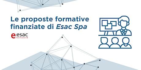 Le proposte formative finanziate di Esac SpA biglietti