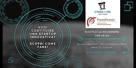 Vuoi costituire una startup innovativa? Scopri come fare! biglietti