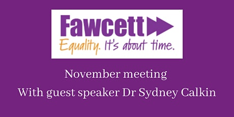 Fawcett East London November 2020 meeting tickets