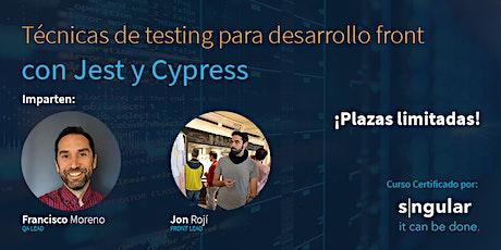 """Workshop """"Técnicas de testing para desarrollo Front con Jest y Cypress"""" entradas"""