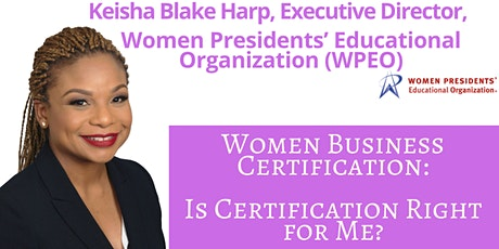 Keisha Blake Harp - Is Certification Right for Me? tickets