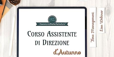 Corso Assistente di Direzione, A2, Time Management biglietti