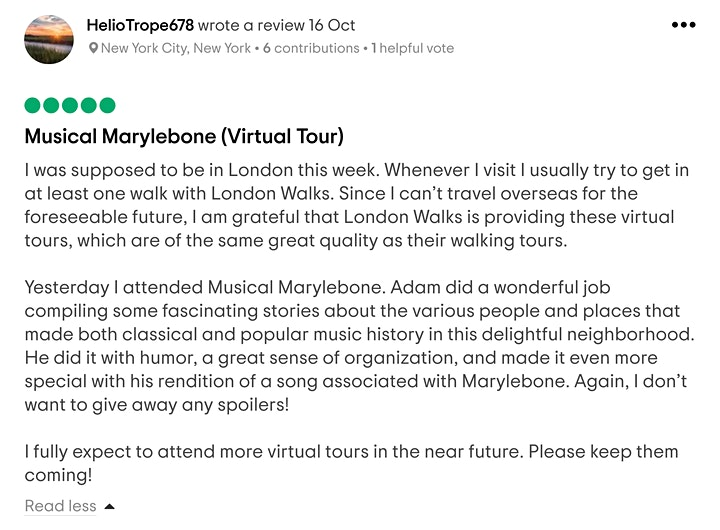 Musical Marylebone – A Virtual Tour image
