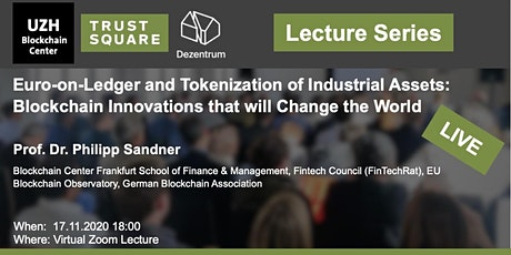 Lecture Series - Euro-on-Ledger and Tokenization of Industrial Assets tickets