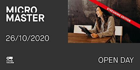 Open Day Online MicroMaster biglietti