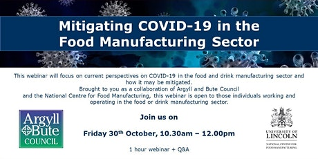 Mitigating COVID-19 in the Food Manufacturing Sector tickets