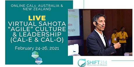 "ONLINE Live Sahota ""Agile"" Culture & Leadership(CAL-E & CAL-O)-AU/NZ tickets"