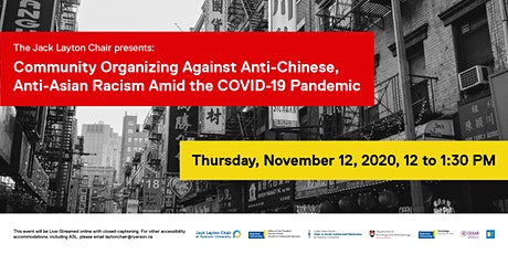 Community Organizing Against Anti-Chinese, Anti-Asian Racism Amid the COVID tickets