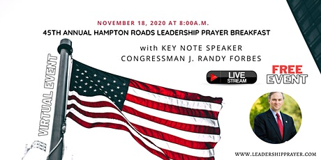 45th Annual Hampton Roads Leadership Prayer Breakfast - VIRTUAL FREE EVENT tickets