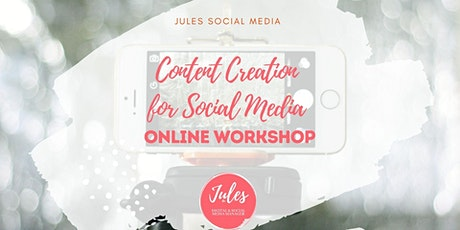 Content Creation for Social Media tickets