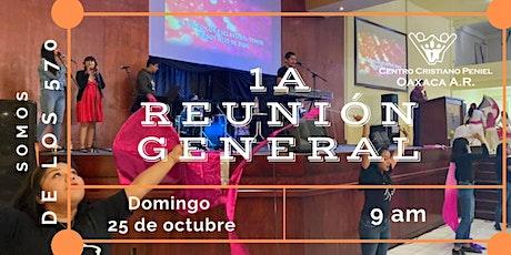 1a Reunion General   Domingo 25 de octubre 2020 boletos