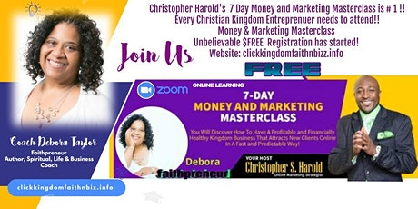 7 Day Money & Marketing Masterclass tickets
