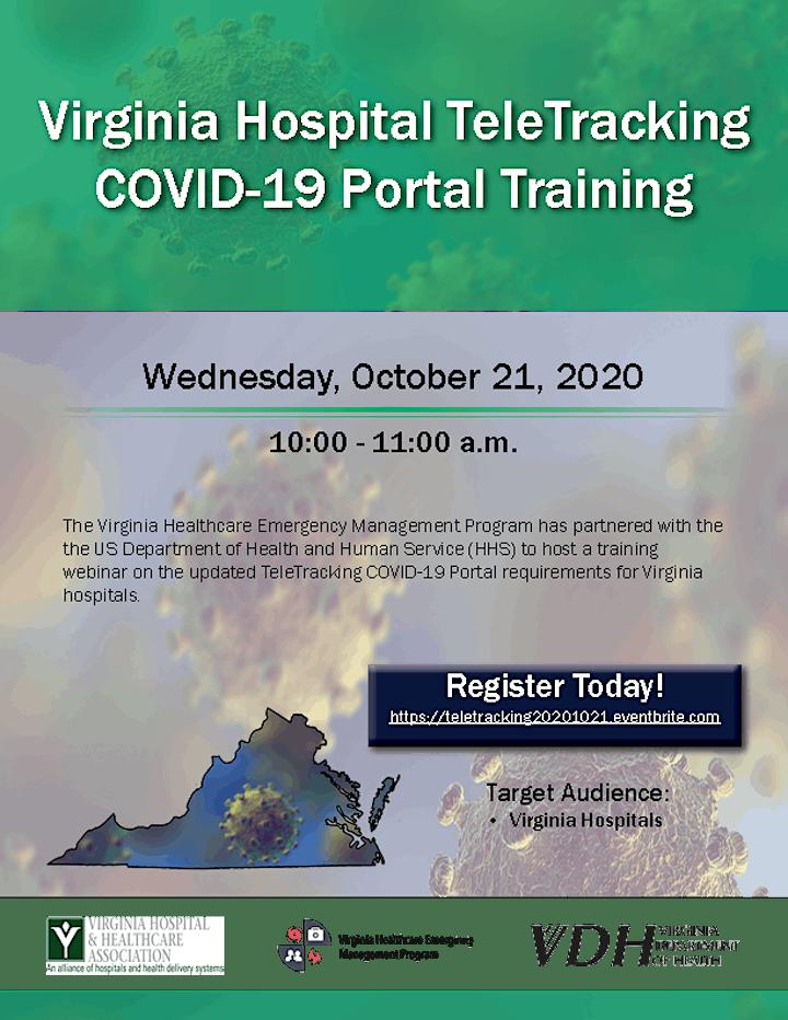 Virginia Hospital TeleTracking COVID-19 Portal Training Update image