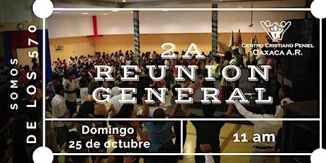 2a Reunion General   Domingo 25 de octubre 2020 boletos