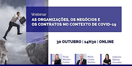 Webinar - As Organizações, os negócios, os contratos no contexto da Covid 1 bilhetes