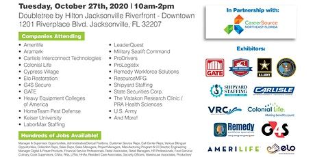 OVER 500 JOBS AVAILABLE AT THE OCT. 27TH JACKSONVILLE JOB FAIR tickets