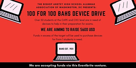 100 for 100: BAHS Device Drive 2020 tickets