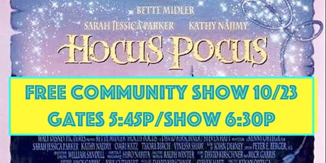 GCSAPP  All Ages,  Friday Night Drive in Movie - Hocus Pocus tickets
