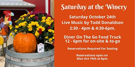 Winery Reservations (Free) Sat Oct 24th 11:30am-1:30pm tickets