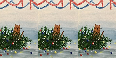 Easely Does It - Naughty Cats Christmas card/mini painting session tickets