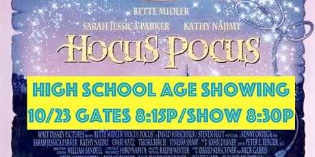 GCSAPP High School Age Only, Friday Night Drive in Movie - Hocus Pocus tickets