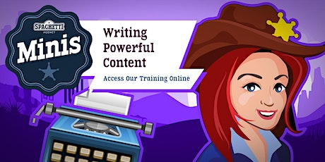 Spaghetti Minis - Writing Powerful Content tickets