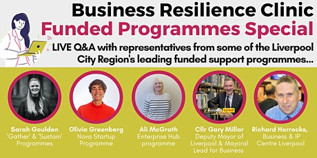 Rapid Recovery Business Resilience Clinic - Funded Programmes Special tickets