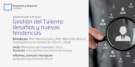 Workshop - Gestión del Talento: Desafíos y Nuevas Tendencias entradas