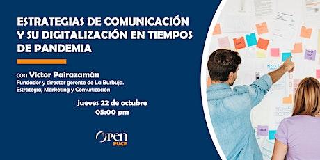 Estrategias de comunicación y su digitalización en tiempos de pandemia boletos