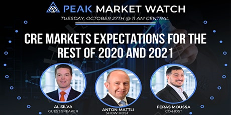 CRE Markets Expectations for the rest of 2020 and 2021 tickets
