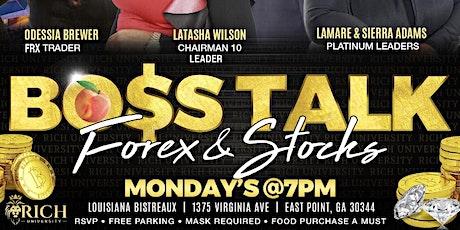 Boss Talk FOREX & STOCKS tickets