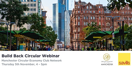 Manchester Circular Economy Club Network - Build Back Circular tickets
