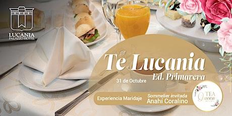 Té Lucania Edición Primavera - 31 de octubre entradas