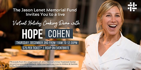 The Jason Lenet  Memorial Fund of CCTC: Virtual Holiday Cooking Demo tickets