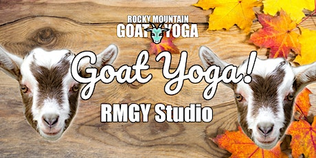 Goat Yoga - November 1st (RMGY Studio) tickets