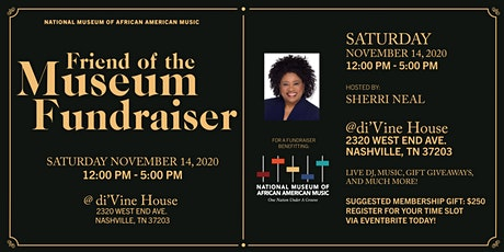 NMAAM's Friend of the Museum Fundraiser Hosted by Sherri Neal tickets
