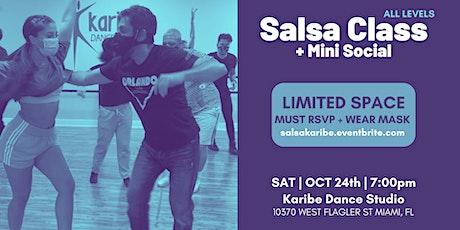 Salsa Class + Mini Social (RSVP REQUIRED) tickets