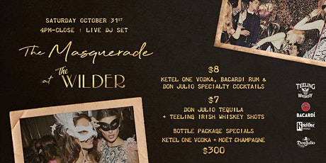 The Halloween Masquerade At The Wilder tickets