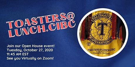 VIRTUAL OPEN HOUSE - Toasters@Lunch.CIBC tickets
