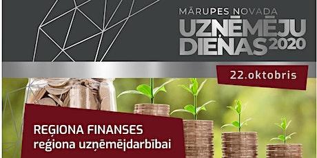 Reģiona finanses reģiona uzņēmējdarbībai tickets