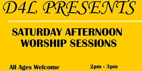 Saturday Afternoon Worship Sessions tickets