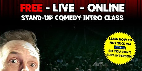 Northern California Online  Free Intro to Stand Up Comedy Class tickets